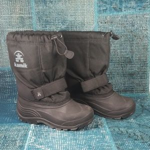 Kamik Size 3 Black Zylex Liner Snow Boots